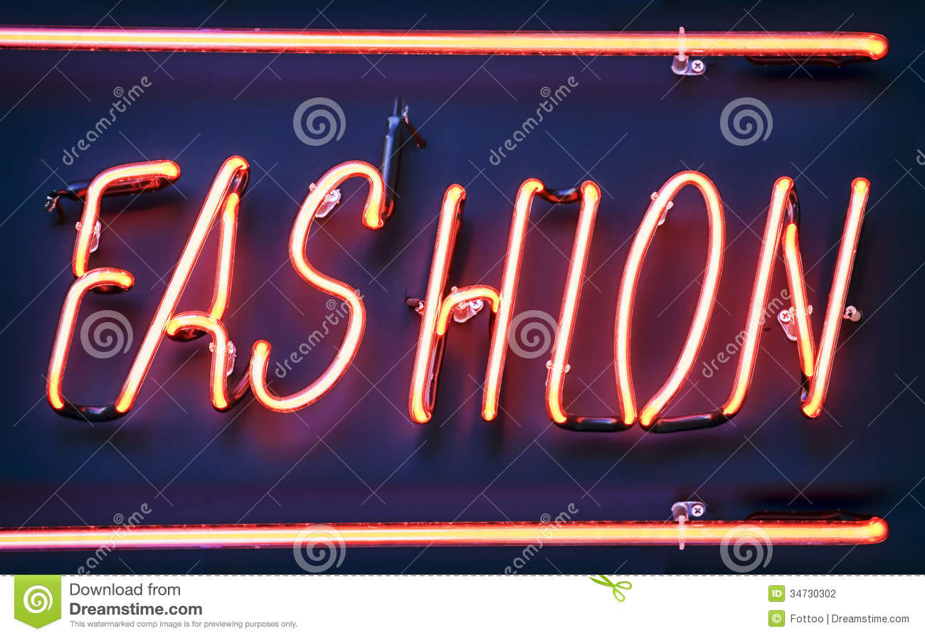 Neon Sign For Fashion Stock Photography - Image: 34730302