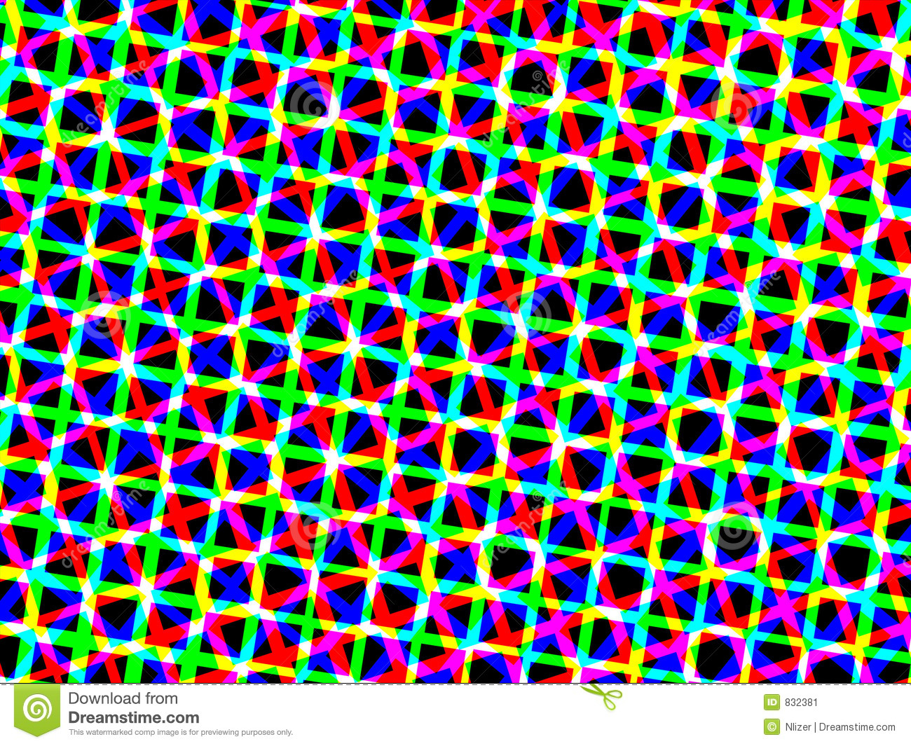 Neon Squares On Black Background Wallpaper Stock