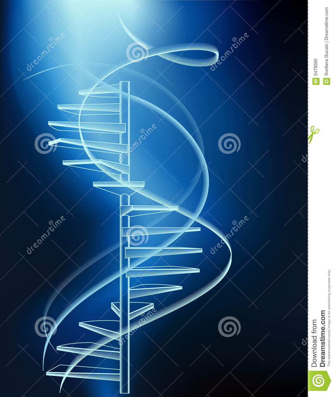 Neon Stairs Stock Vector Illustration Of Electricity