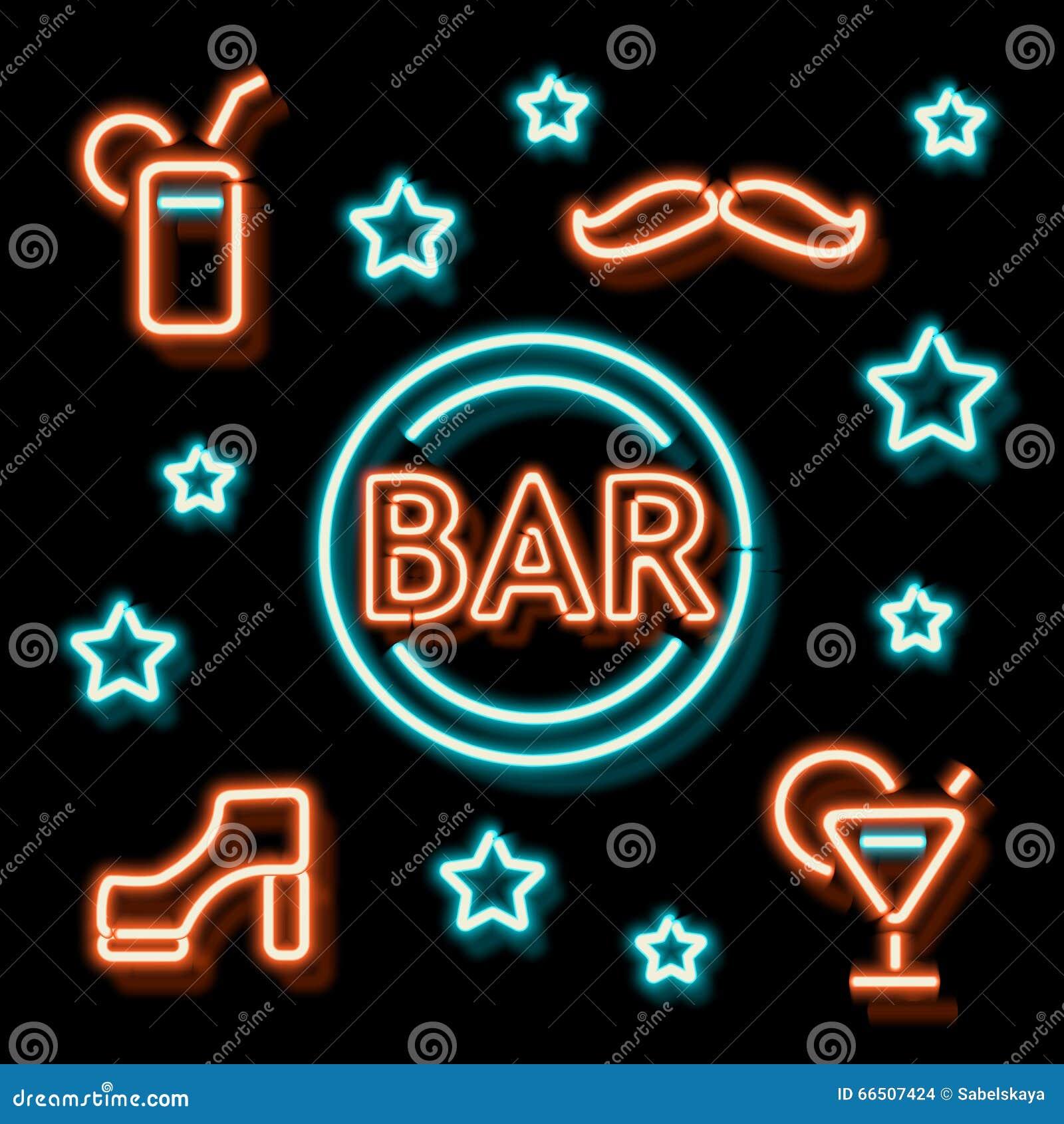 Neon symbol bar stock vector illustration of icon logo 66507424 neon symbol bar buycottarizona Choice Image