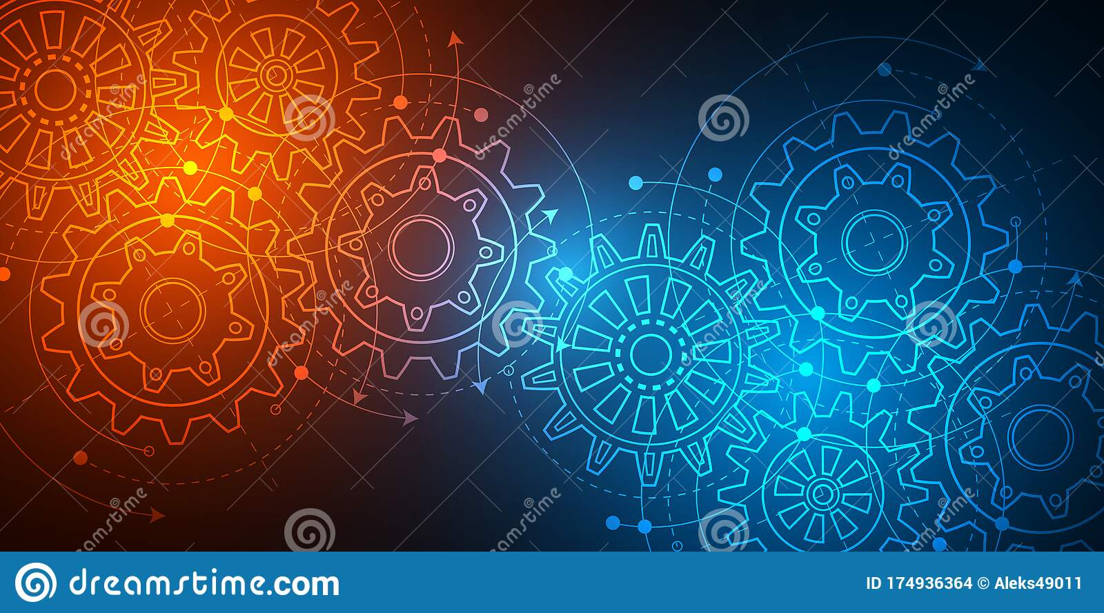 Neon Technology Background  Business Concept Technical