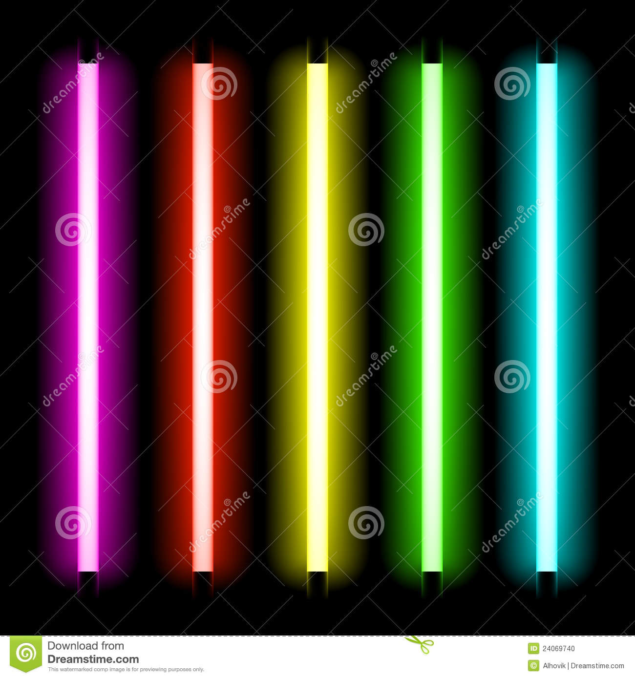 neon tube light stock photo image 24069740. Black Bedroom Furniture Sets. Home Design Ideas