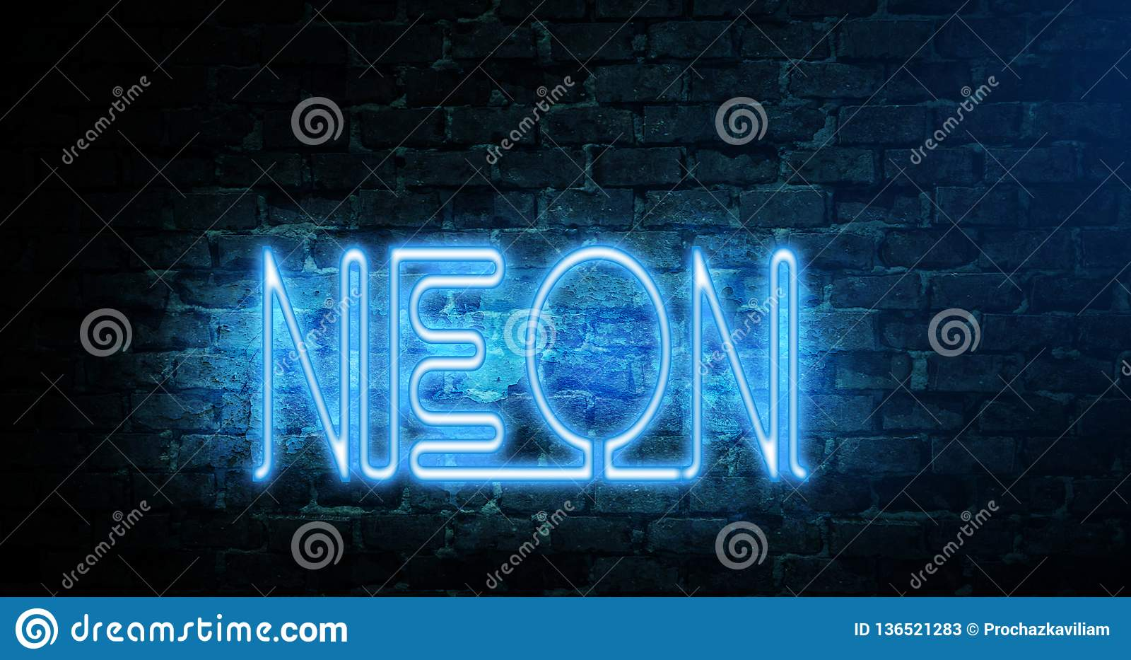 Neon Wallpaper Bluecolor Pc Stock Image Image Of