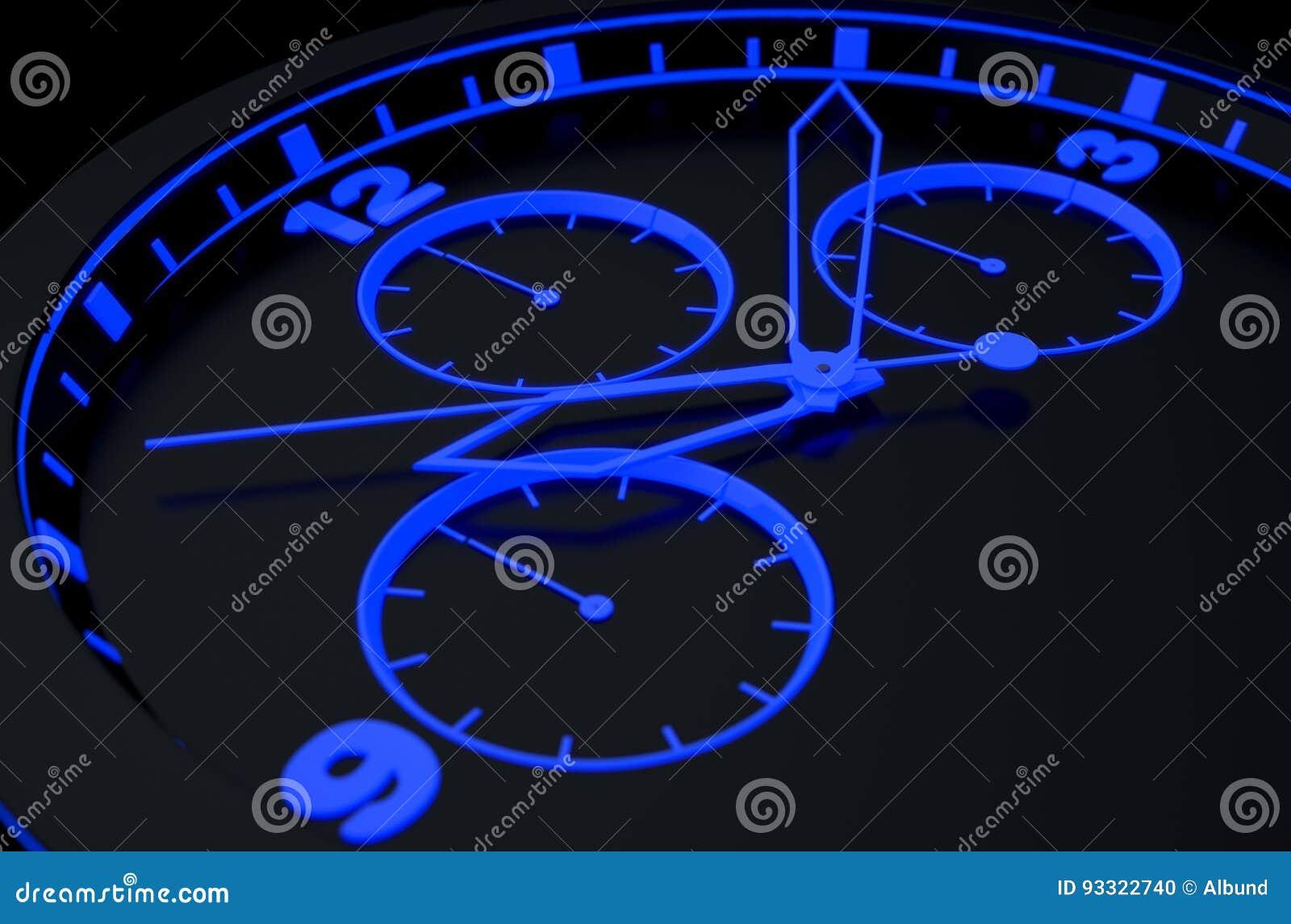 Neon Watch Face Stock Photo Cartoondealer Com 93322740