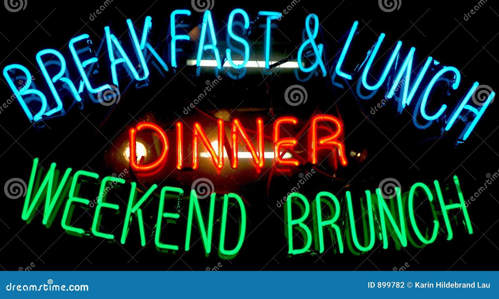 Neon znak śniadanie