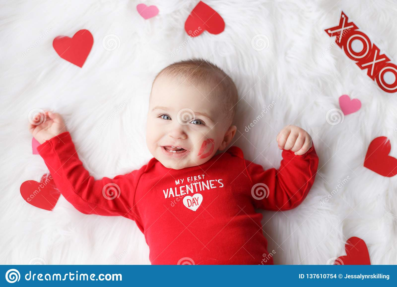Neonato sveglio di San Valentino