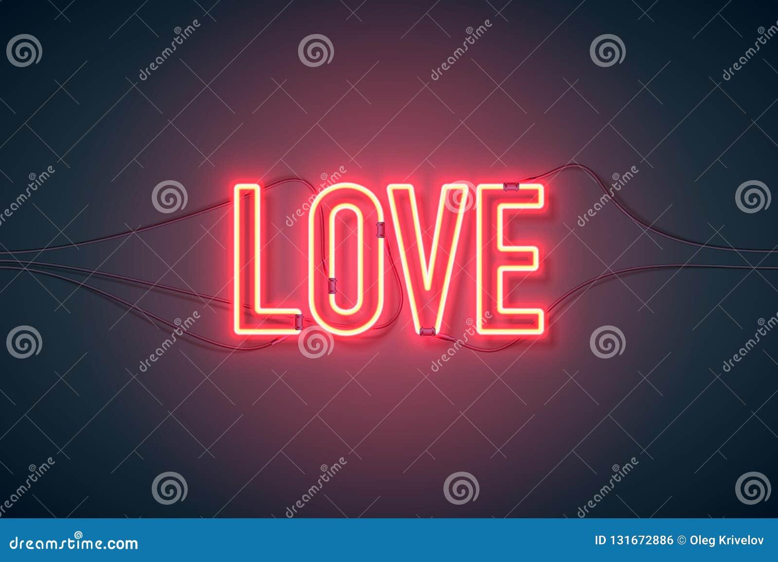 Neonowego znaka miłość szeroka