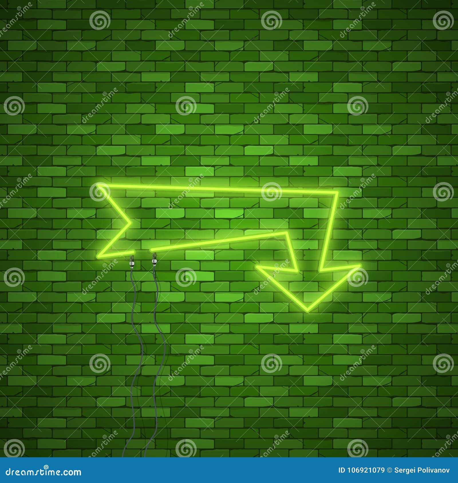 Neonowy strzała znak