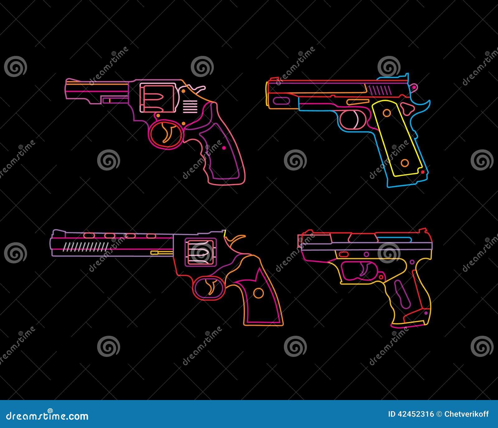 Neonpistolenzeichen