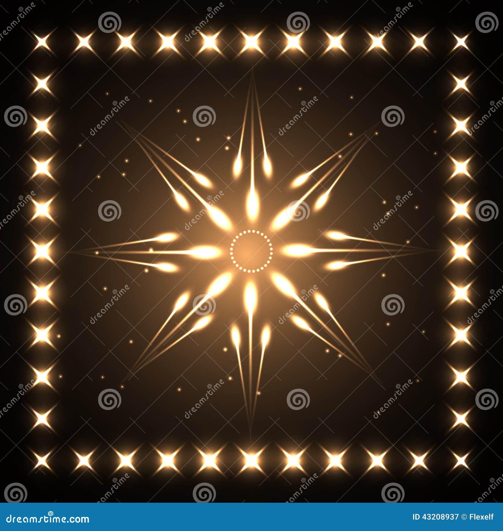 Download Neonstjärna vektor illustrationer. Illustration av cirkel - 43208937
