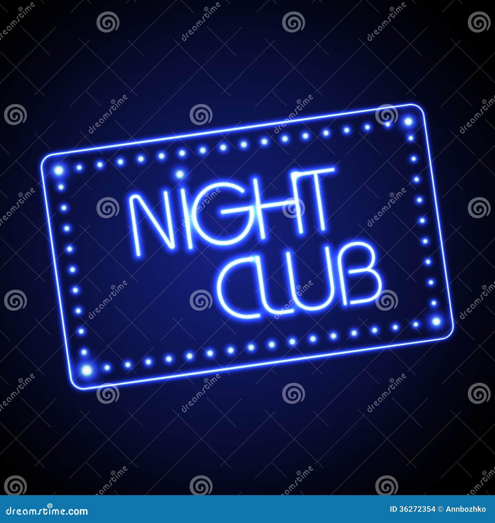 Neonteken nachtclub stock afbeeldingen afbeelding 36272354 - Nachtclub ...