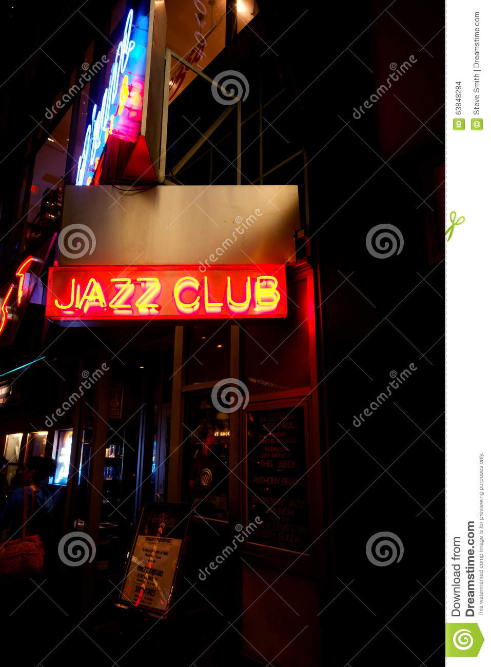 Neonteken voor Jazz Club in Manhattan
