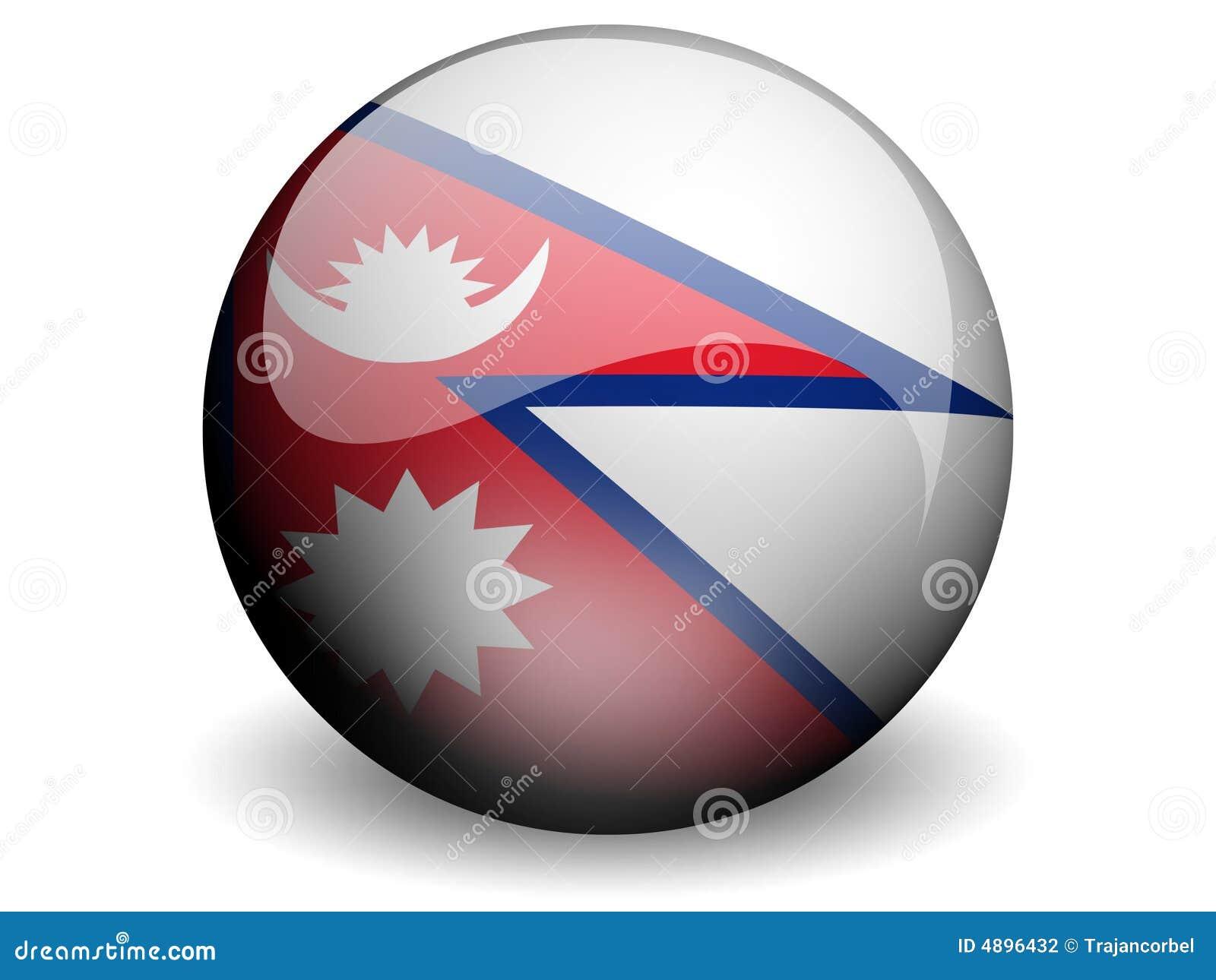 Nepal bandery round