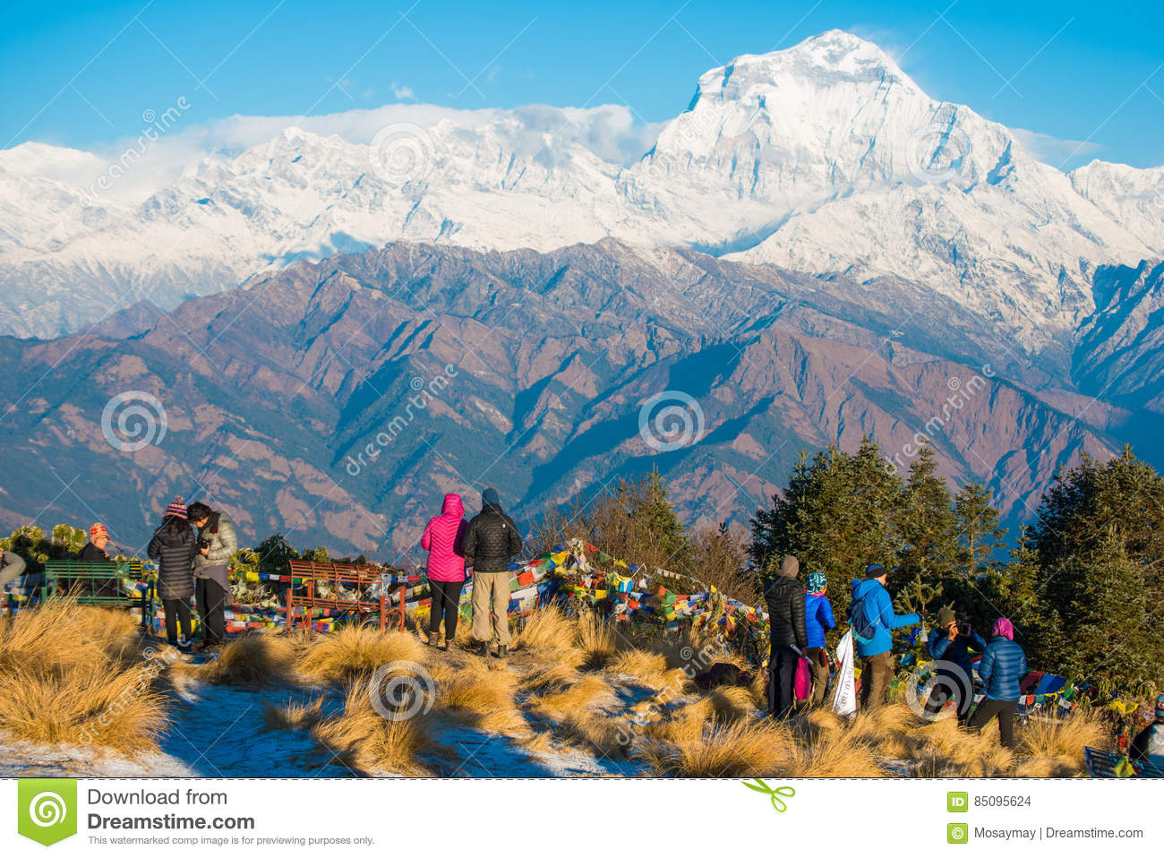 Nepal - 26 December 2016 :: Poon Hill view point for see snow mo