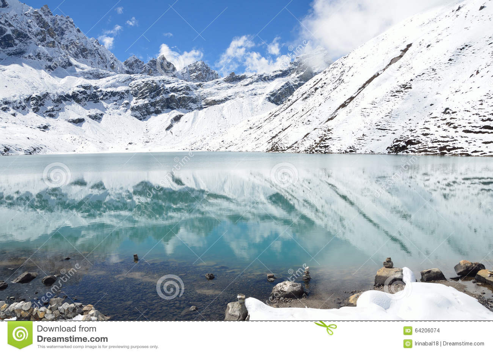 Nepal, el Himalaya, lago Gokyo, 4700 metros sobre nivel del mar
