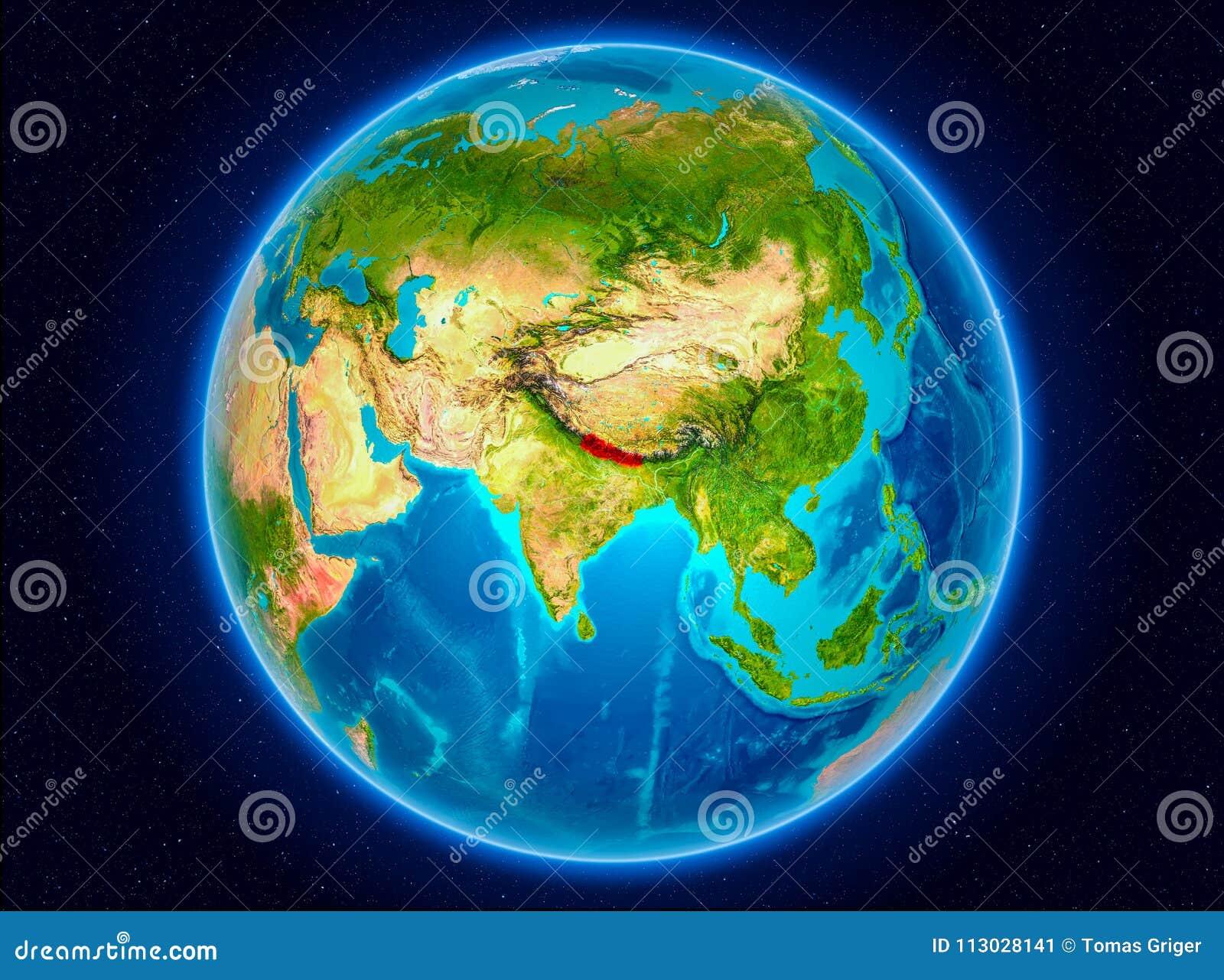 Nepal en la tierra