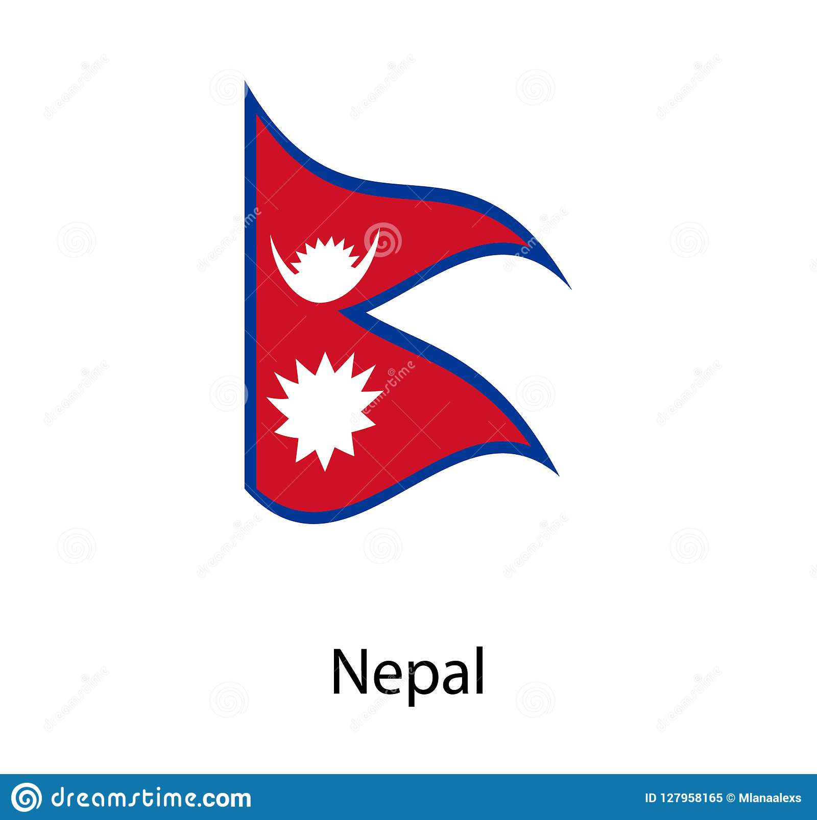 Nepal Flag Moved By The Wind, Nepal Flag With Fabric Texture. Flag ...