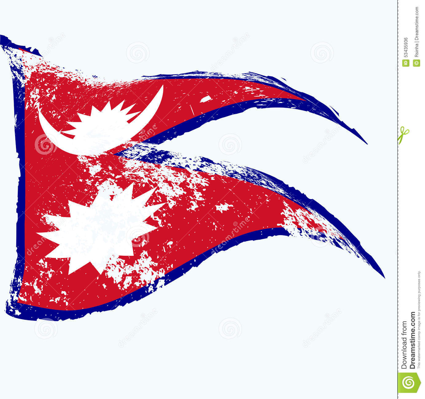 Nepal flag stock vector. Illustration of colors, background - 53435936