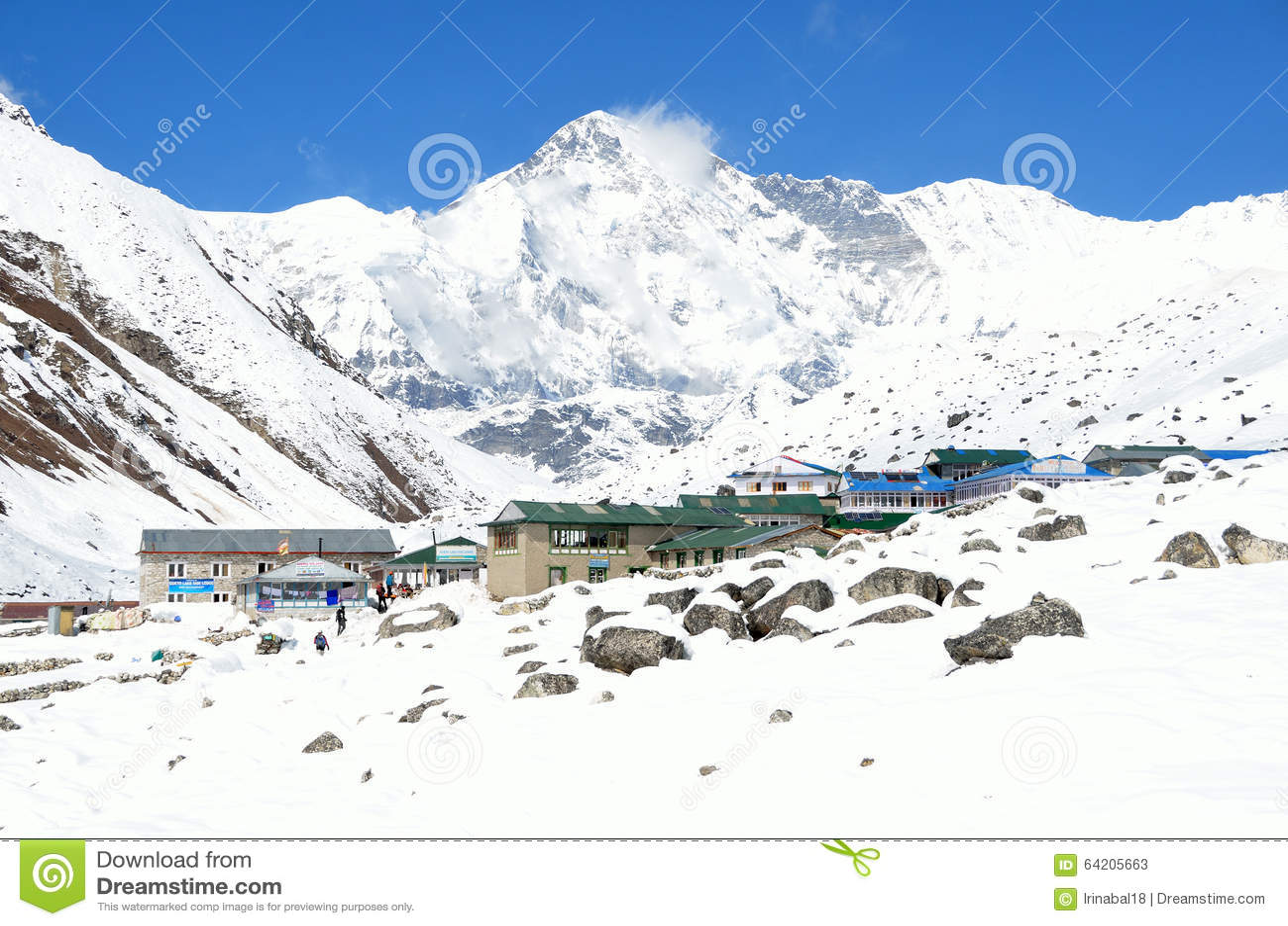 Nepal, Himalaya, villlage Gokio, Cho Oyu máximo, 8210 metros sobre nivel del mar