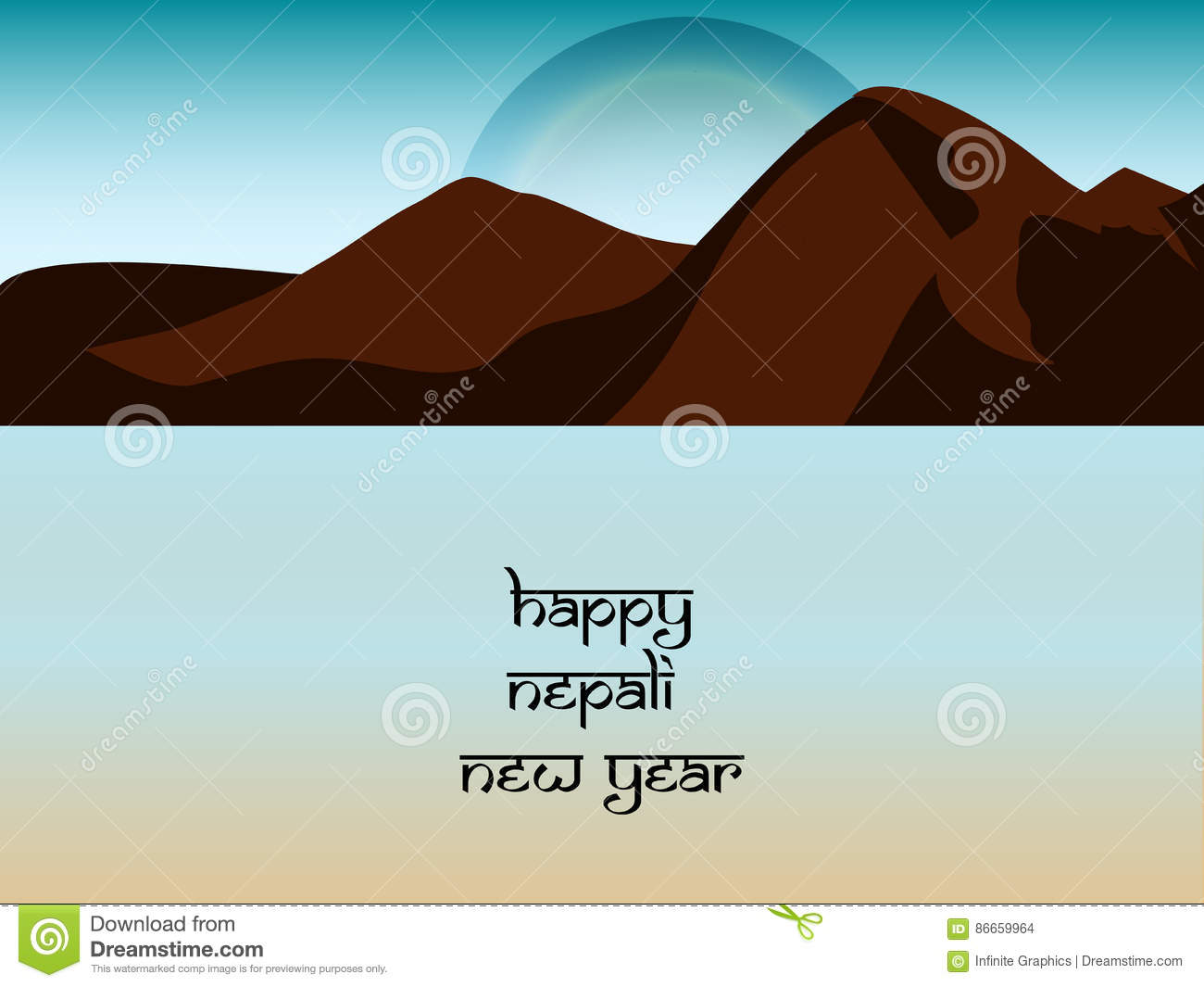 download nepal new year background stock vector illustration of country 86659964