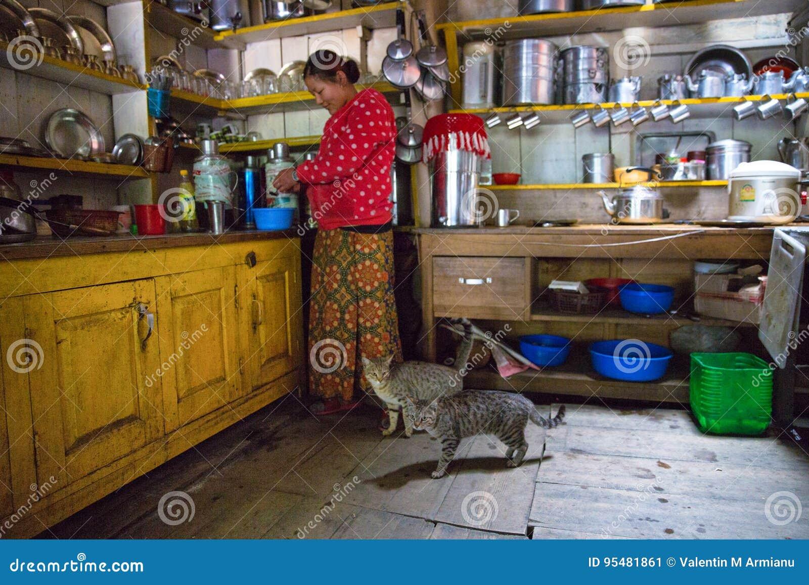 Nepal restauraci kuchnia
