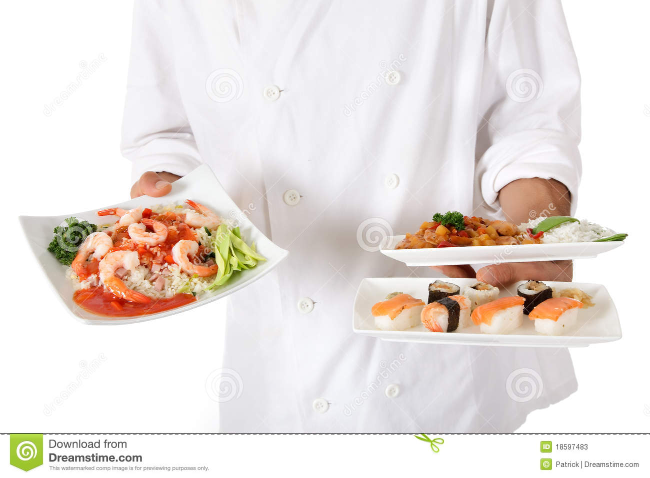 Nepalese Chef Male Hand, Oriental Food Plate Stock Photos ...