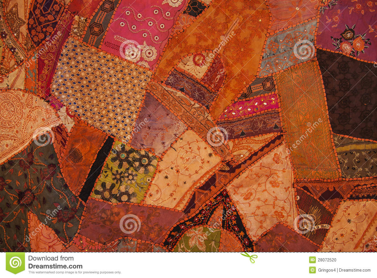 Nepali Patchwork Kathmandu Valley Stock Photo Image