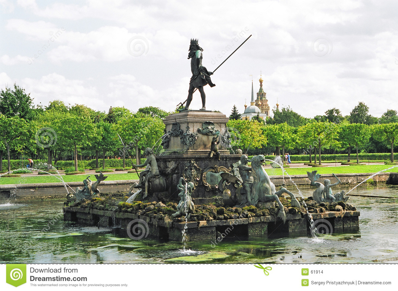 Download Neptune. photo stock. Image du fontaine, figure, statue - 61914