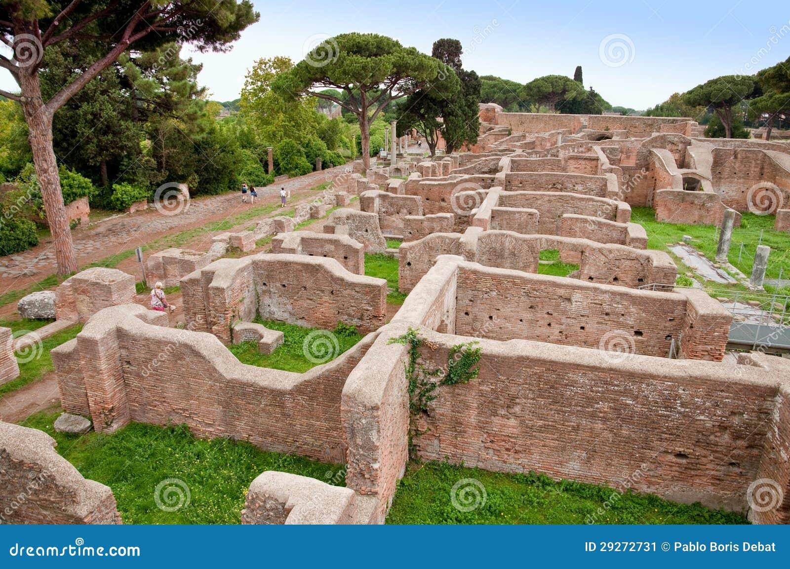 Neptune baths ruins at ostia antica rome stock image for Mr arredamenti ostia antica