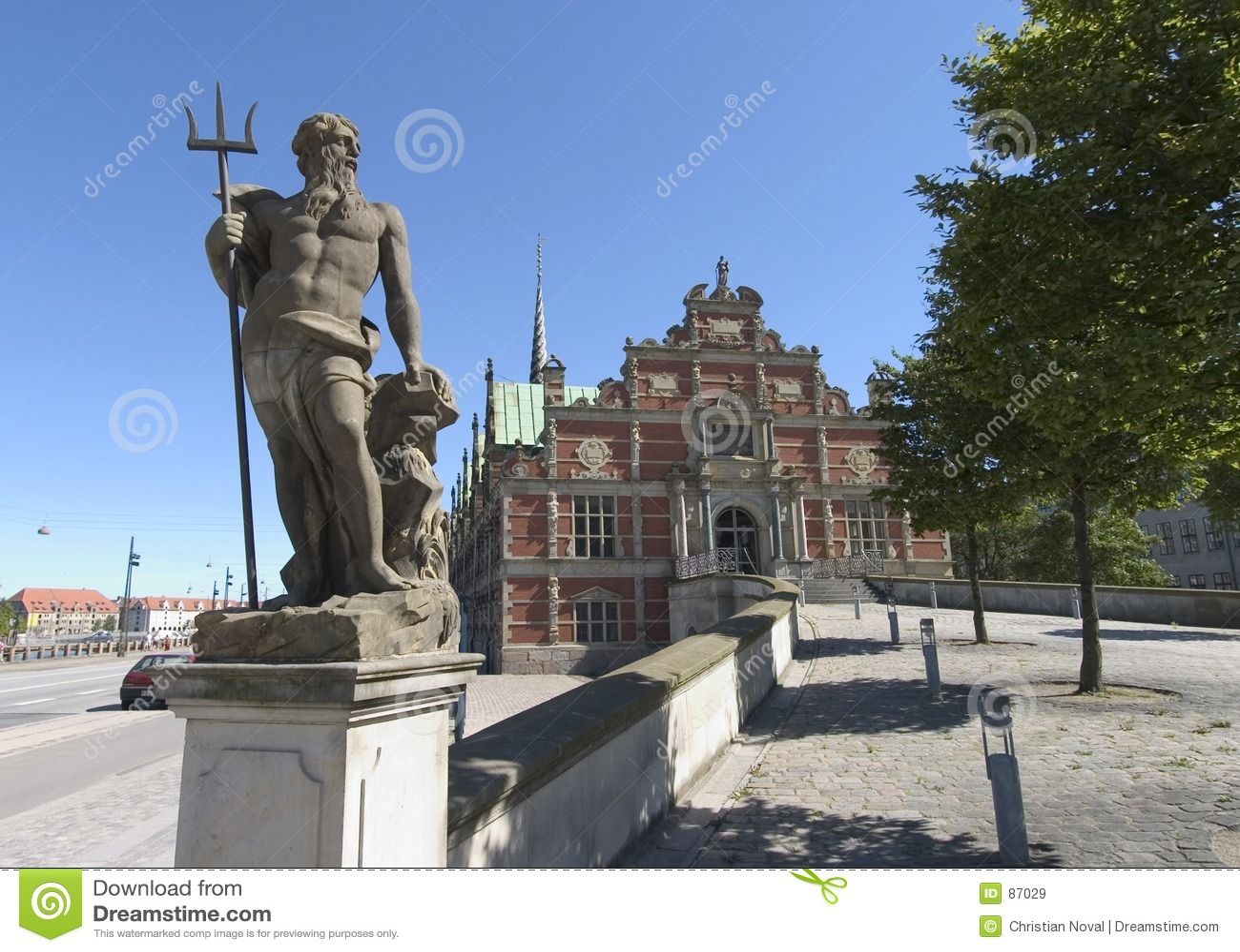 Neptune copenhagen posąg