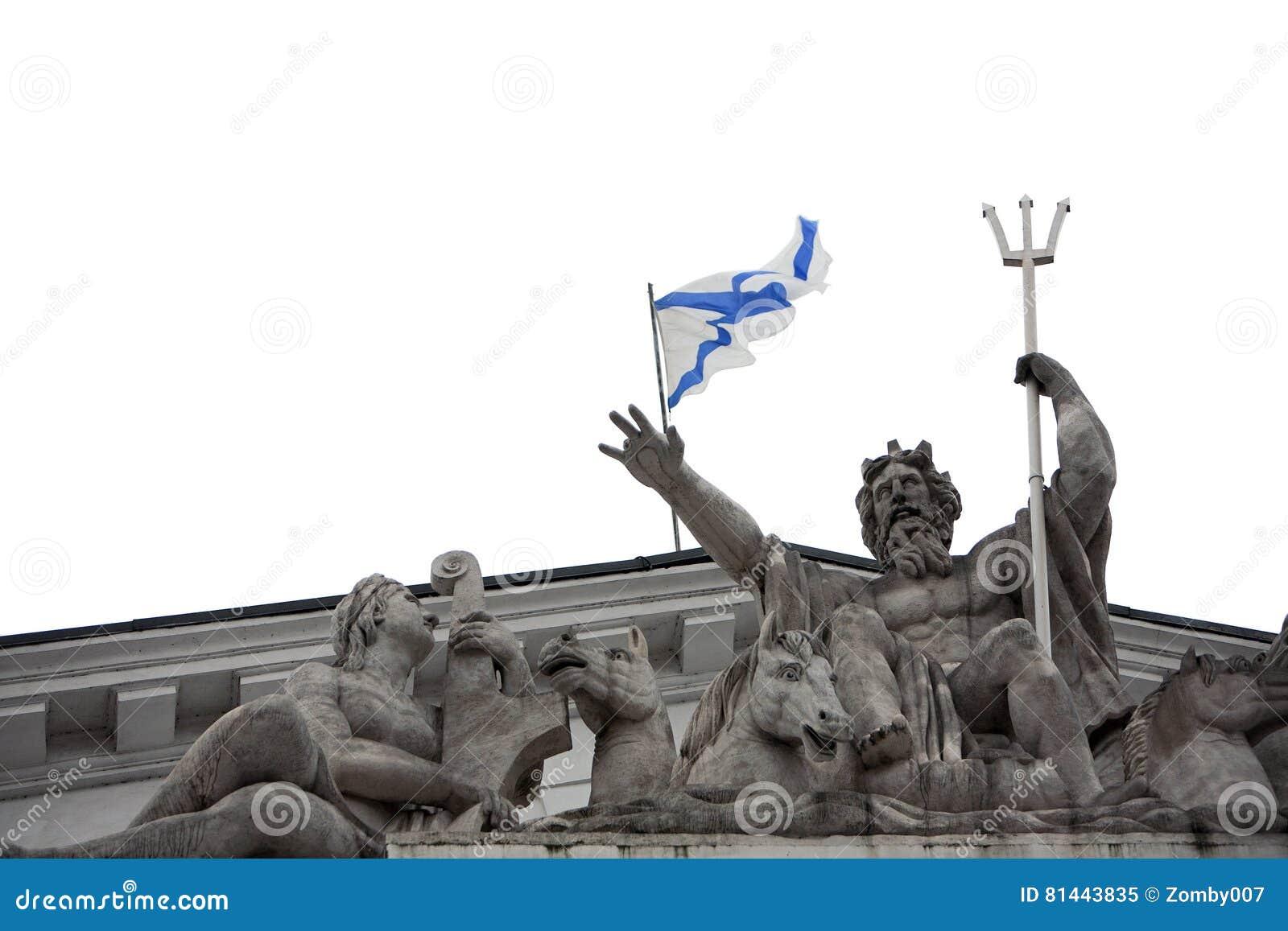 Neptune and the flag of st andrew stock image image of place royalty free stock photo buycottarizona