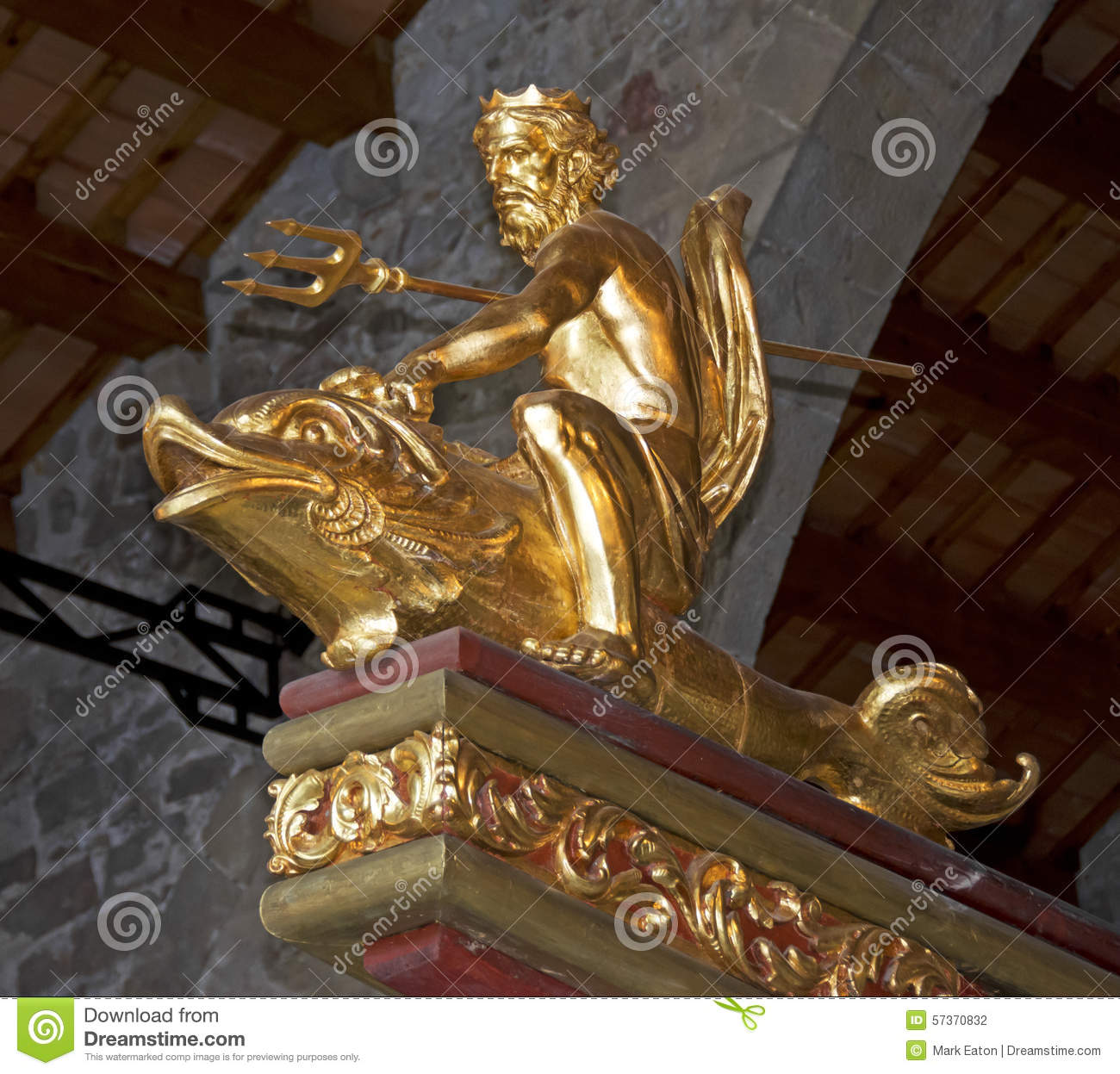 Neptune God Of The Sea Stock Photo Image Of Gild Cruise 57370832