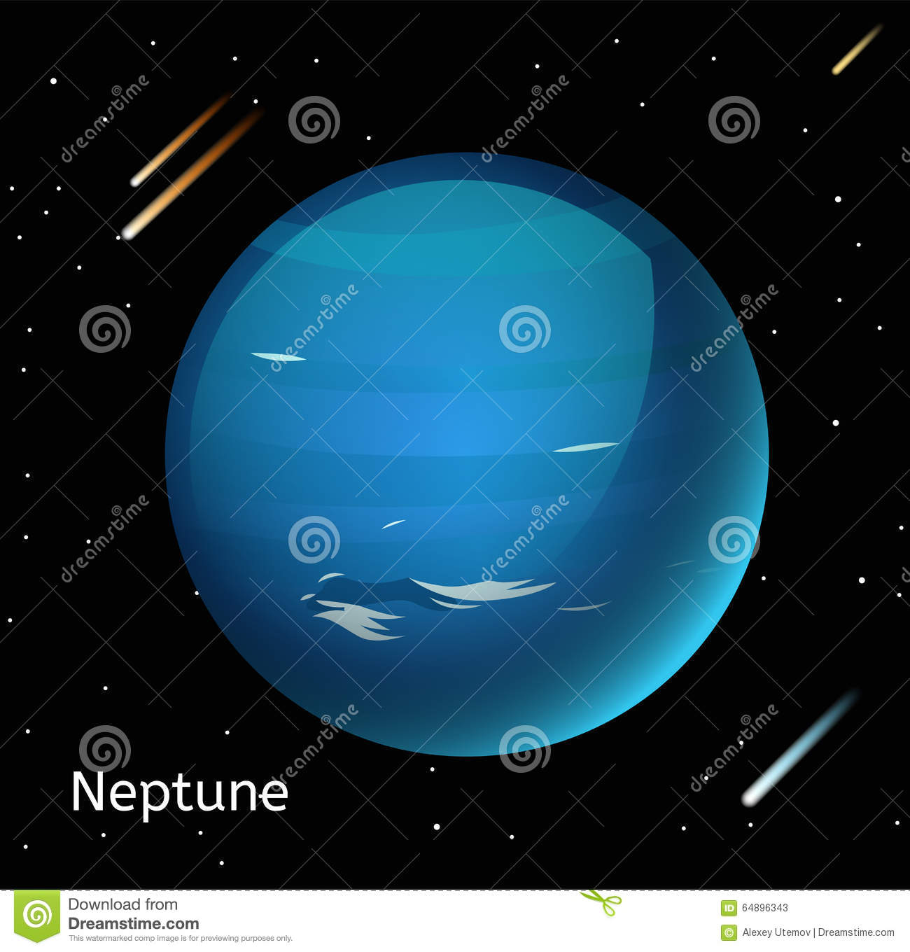 Neptune Planet 3d Vector Illustration Stock Vector Image