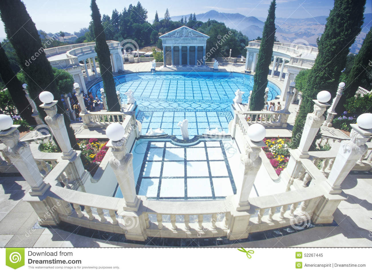 Neptune Pool at Hearst Castle, San Simeon, Central Coast, California