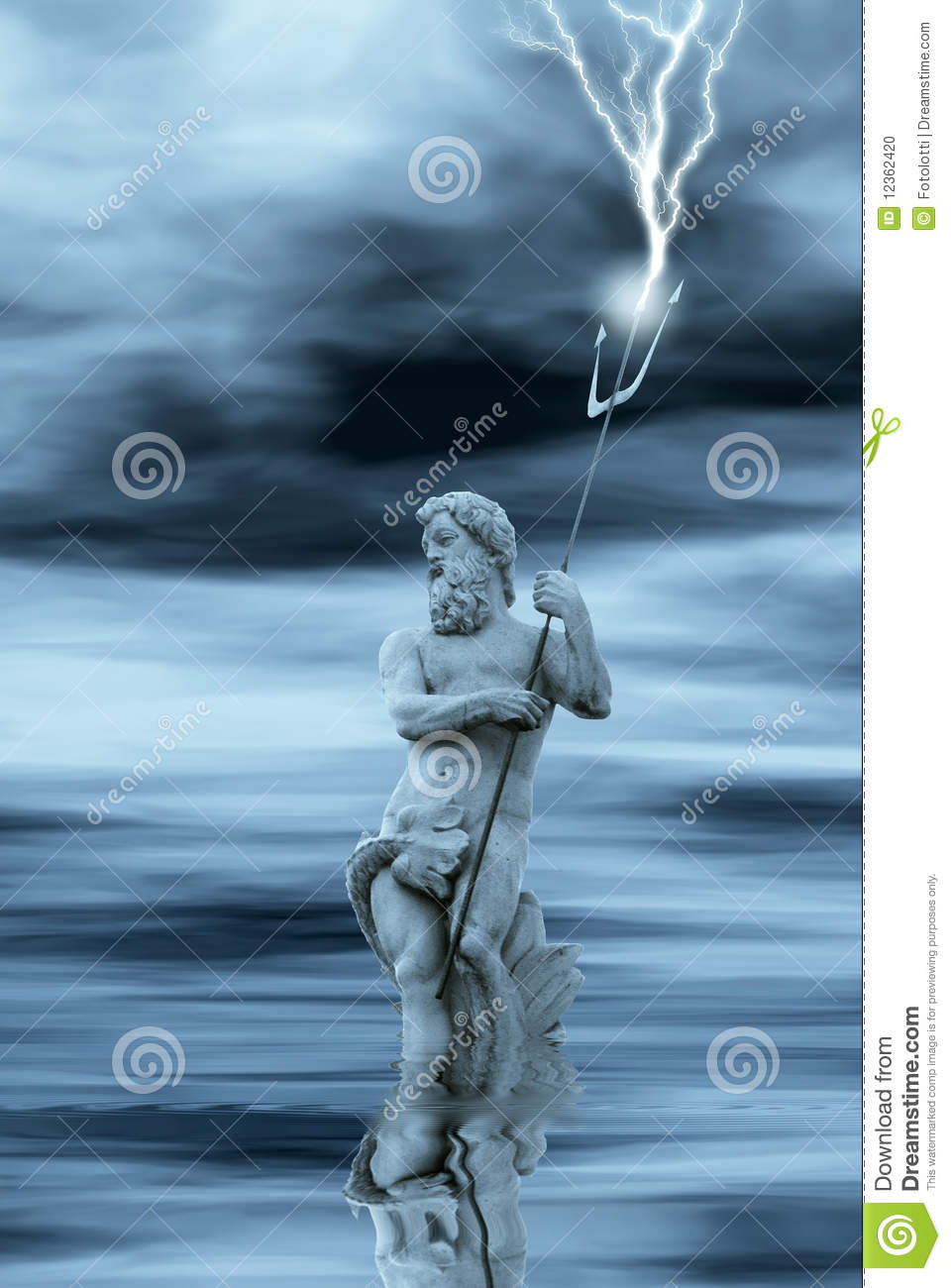 Neptune in water stock photo. Image of storm, force, idol ... |Neptune Worship