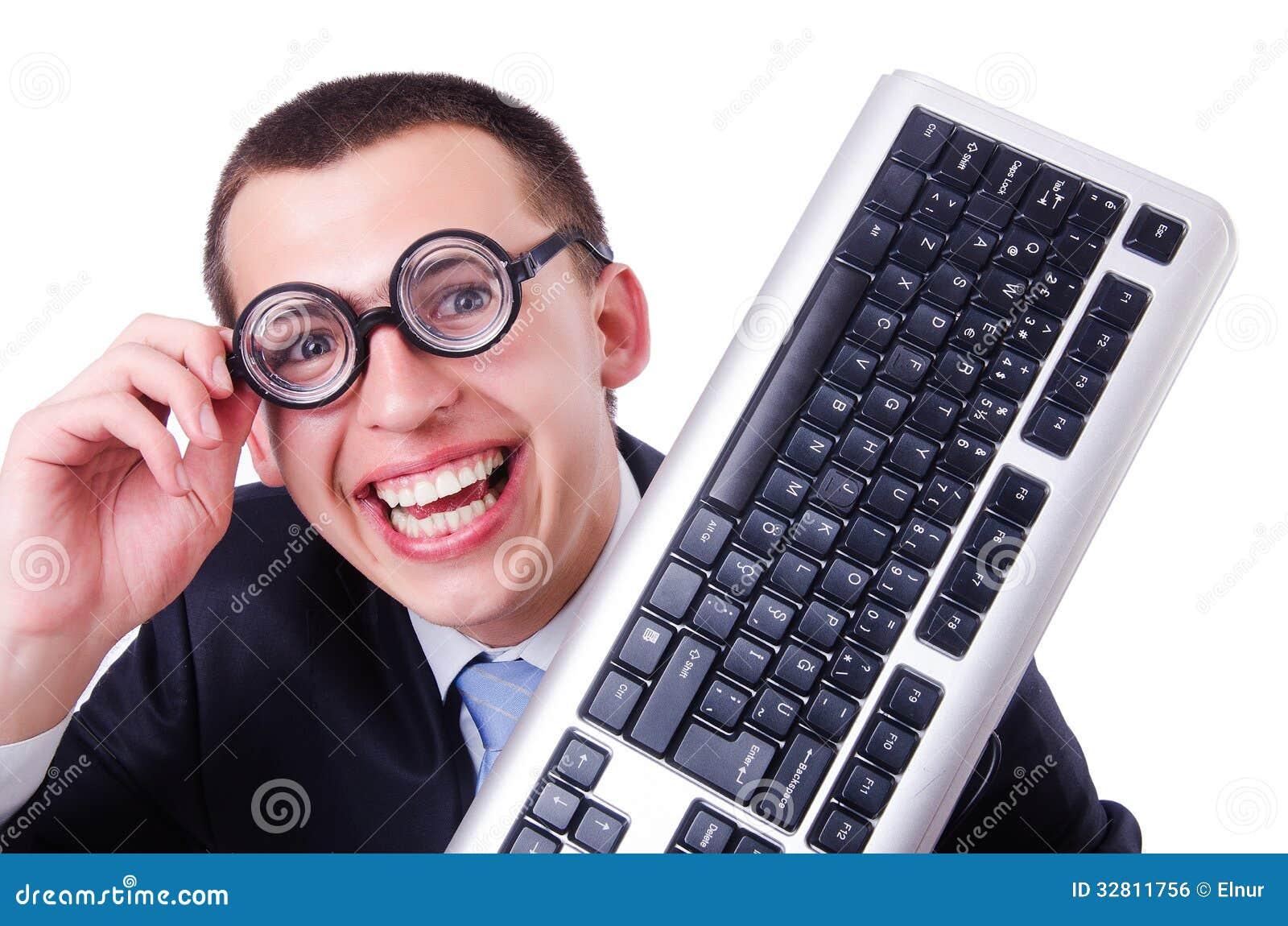 Nerd del geek del computer