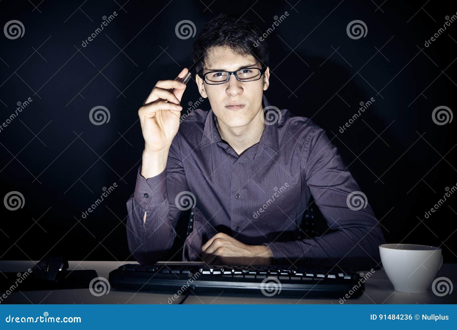 Nerd ed il suo computer