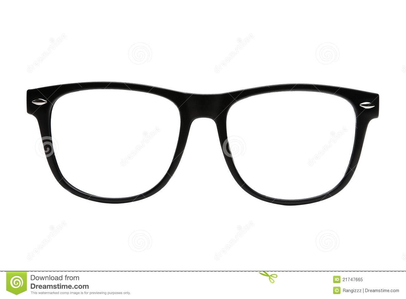 Black Frame Glasses Geek : Nerd Frames Isolated With Clipping Path Royalty Free Stock ...