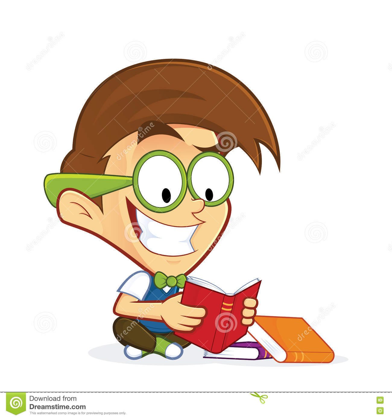 Cartoon Characters Reader : Nerd geek reading book stock vector image of drawn cool