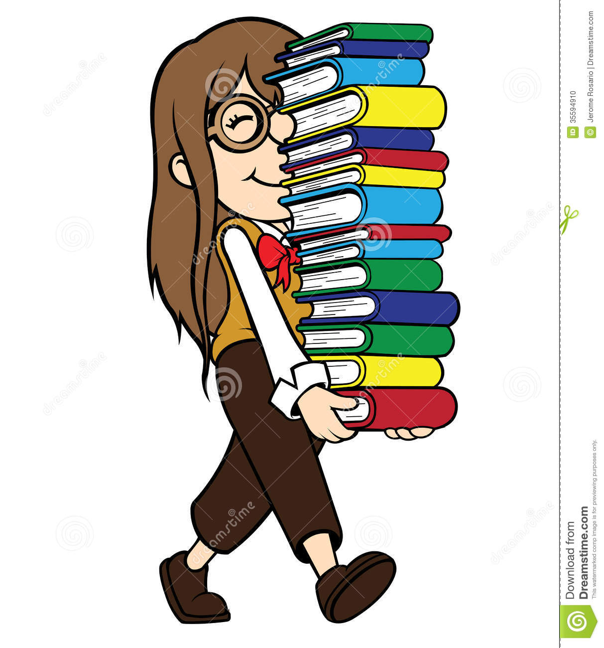 girl with books free clip art - photo #31
