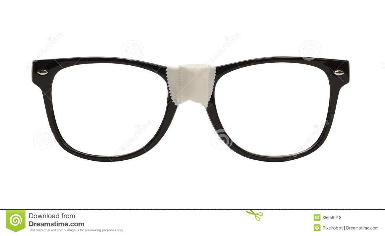Download Nerd Glasses stock photo. Image of isolated, made, glasses - 35659018