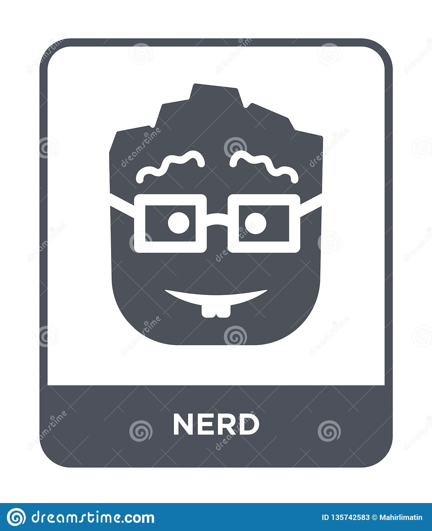 nerd icon in trendy design style. nerd icon isolated on white background. nerd vector icon simple and modern flat symbol for web