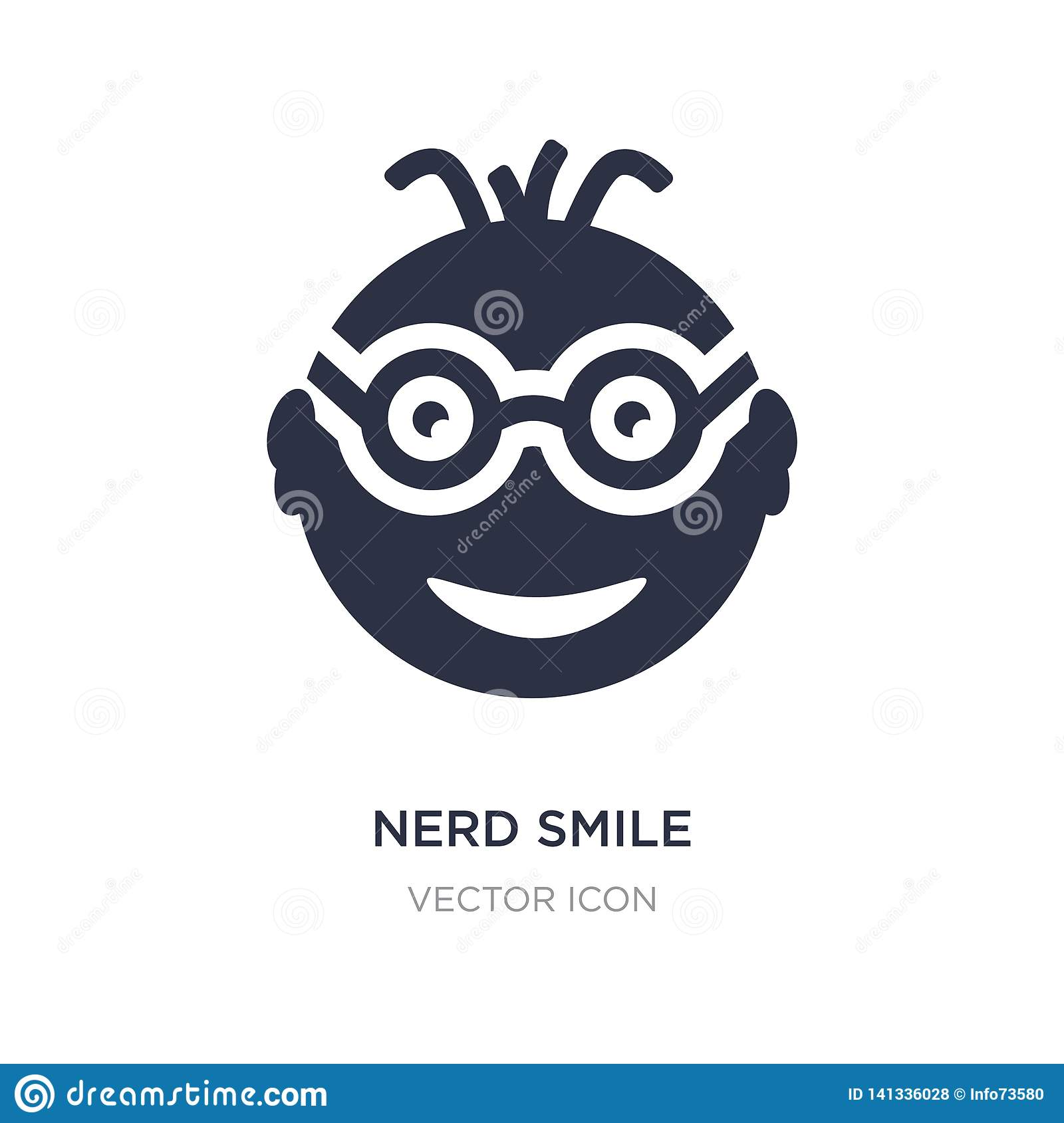 nerd smile icon on white background. Simple element illustration from UI concept