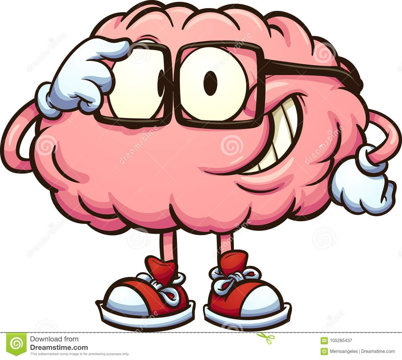 nerdy cartoon brain with glasses stock vector illustration of rh dreamstime com Funny Brain Clip Art Funny Brain Clip Art