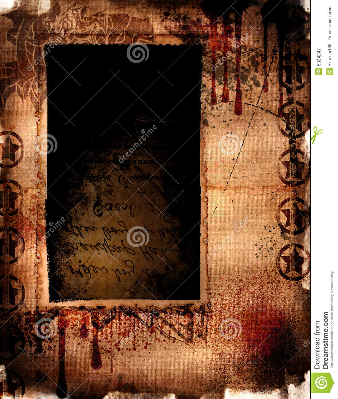 Download Nerezza Grungy illustrazione di stock. Illustrazione di background - 5324247
