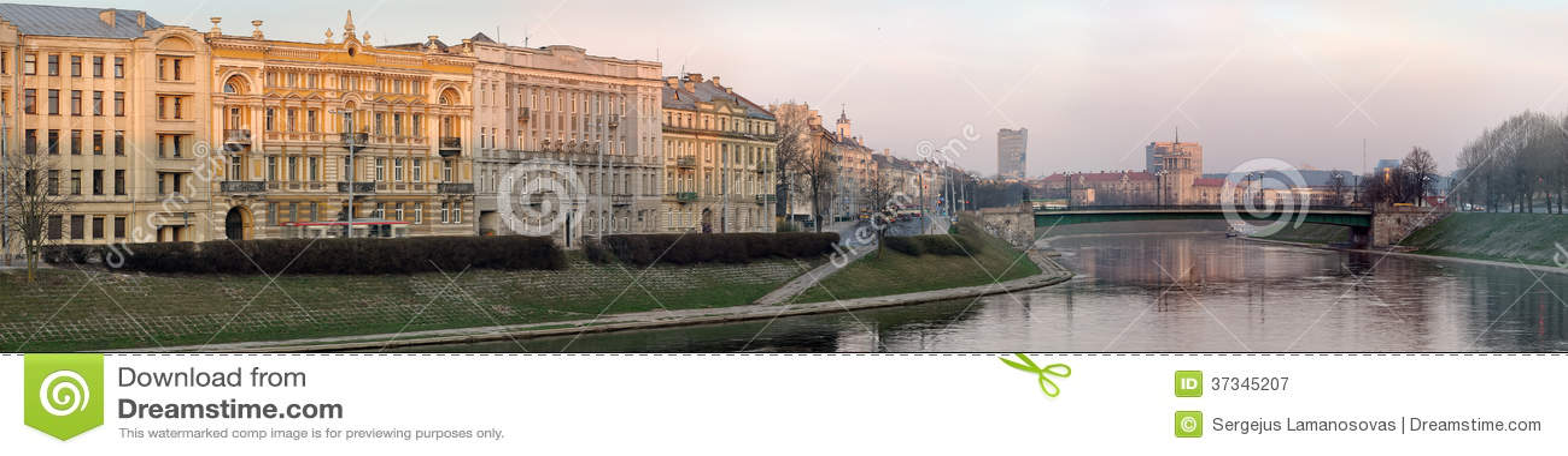 Neris flod på Vilnius
