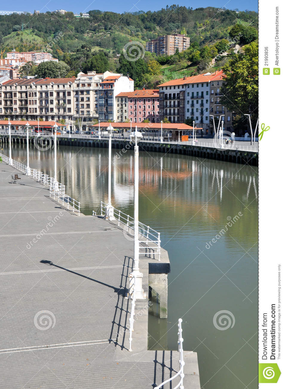Nervion River At Bilbao, Spain Royalty Free Stock Image - Image ...