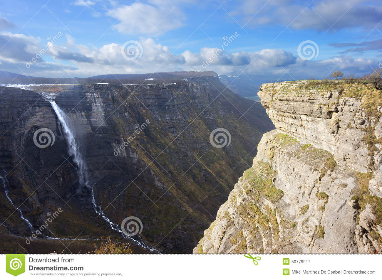 Nervion River Source And Waterfall Stock Photo - Image: 50779917
