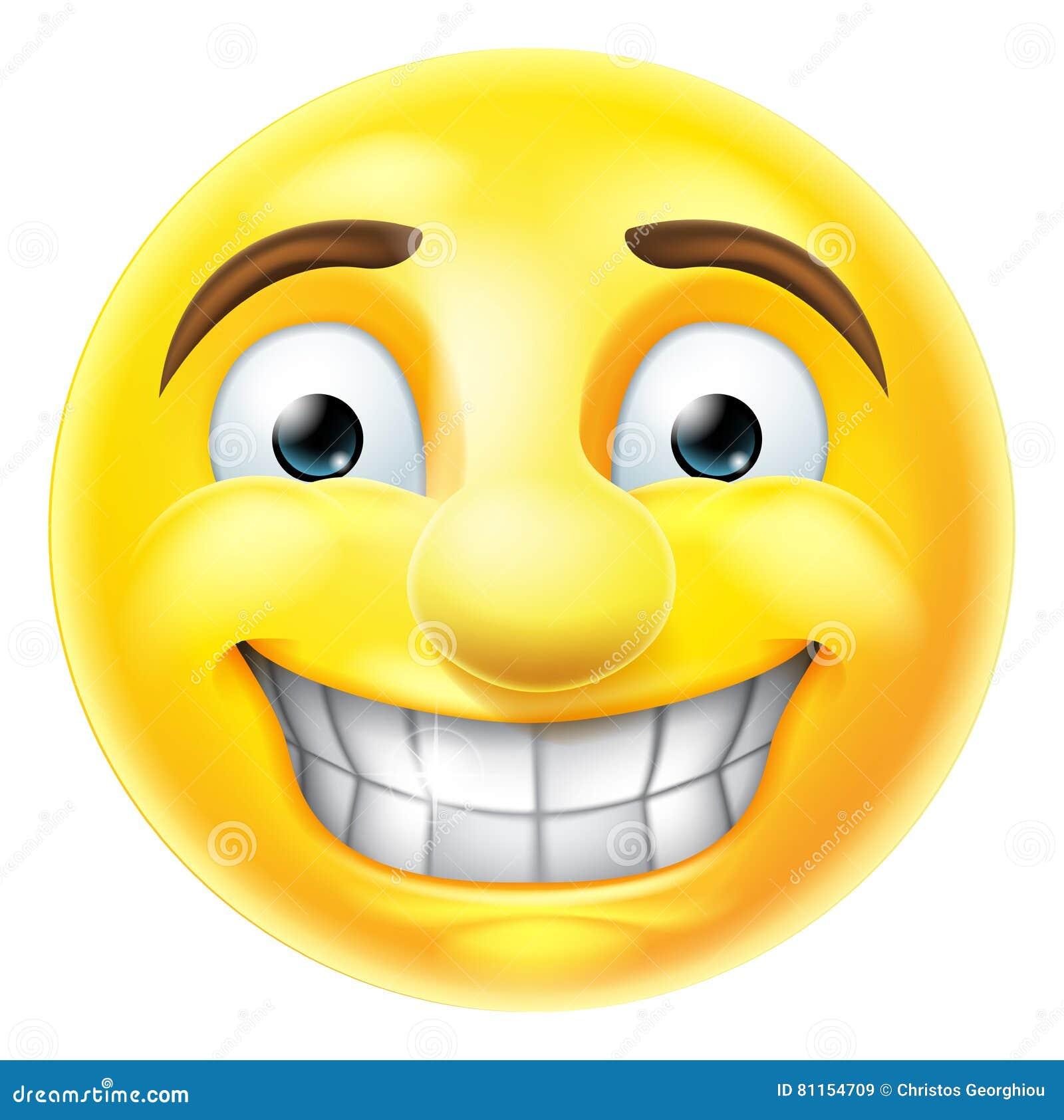 Nervous Grin Emoji Emoticon Stock Vector Illustration Of
