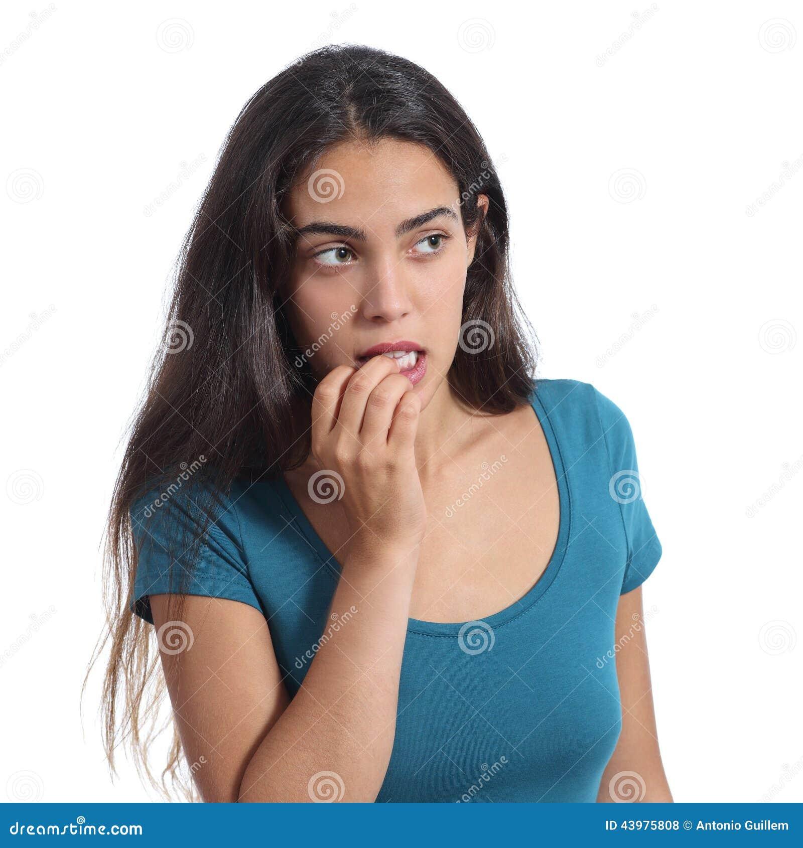 Chica nerviosa adolescente